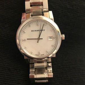 Burberry Silver Diamond Watch BU9125